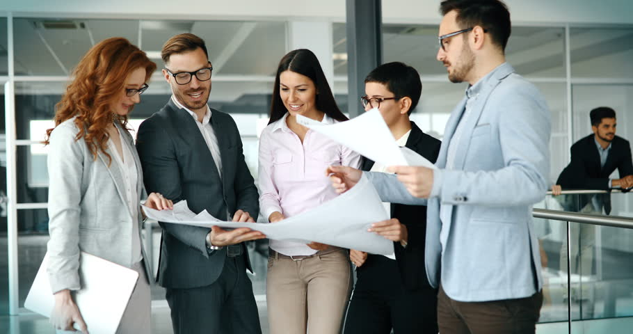 Group of business people collaborating in business office | Shutterstock HD Video #29915251