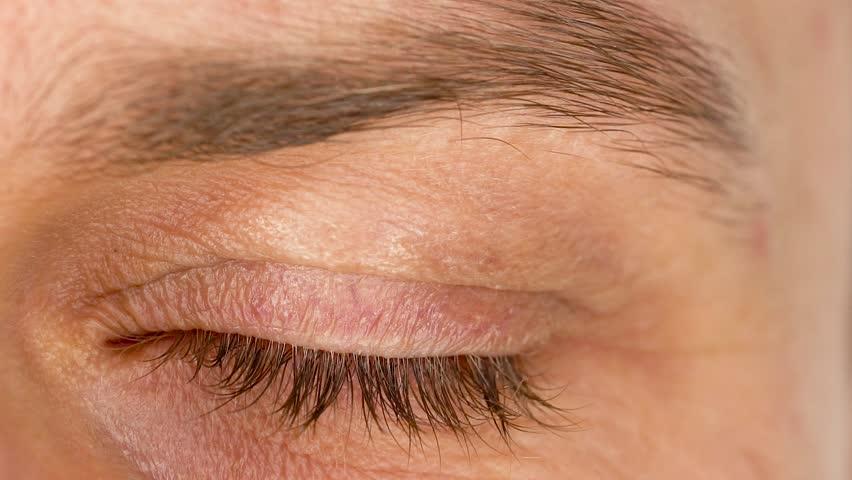 59f590c1048 Beautiful Blinking Male Eye Close-up Stock Footage Video (100 ...