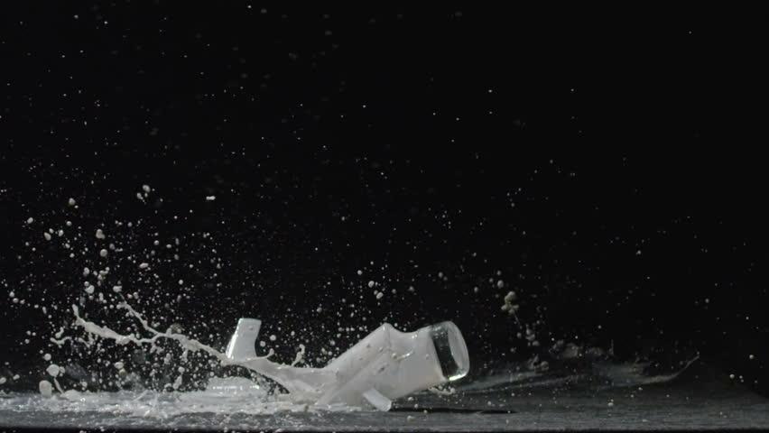 Broken glass with milk | Shutterstock HD Video #29932342