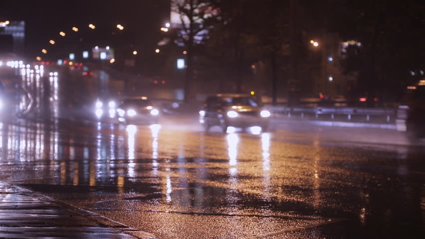 Cars Go at Night in Stock Footage Video (100% Royalty-free) 2995702 |  Shutterstock