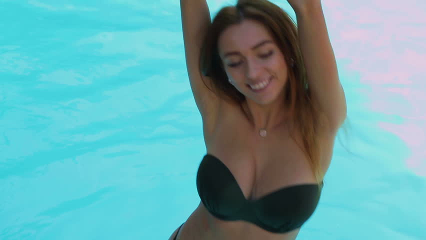 Sexy girl dancing in bikini