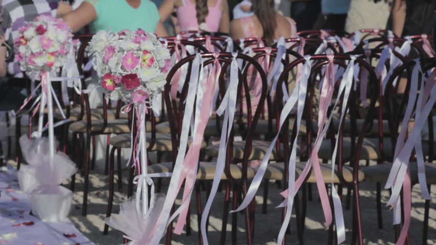 decorated chairs for wedding ceremony