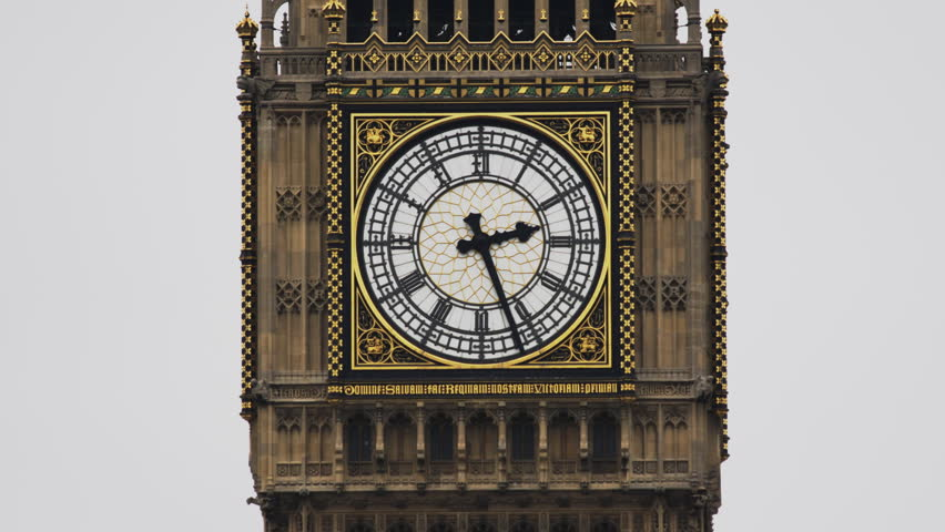Big Ben And Houses Of Parliament Night Time Lapse Stock ...