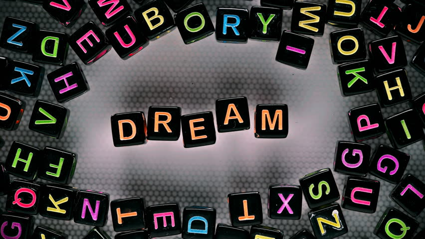 Cubes with letters have collected a word - dream | Shutterstock HD Video #30115222