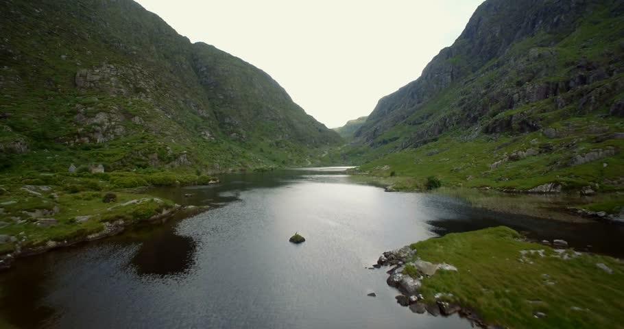 Aerial, Gap Of Dunloe, County Kerry, Ireland - Graded Version | Shutterstock HD Video #30148192