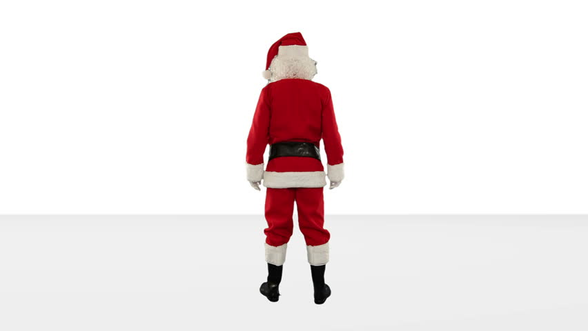 Santa Claus Dancing against White, Dance 6