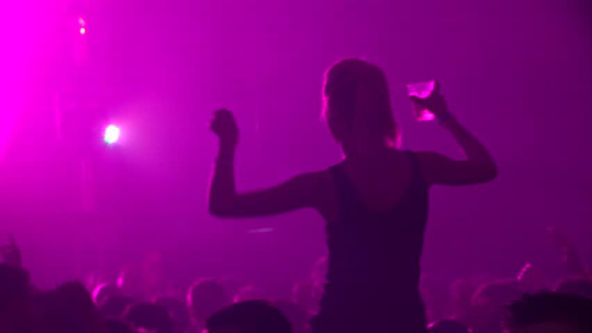 GRONINGEN, NETHERLANDS - APRIL 14: People Dancing at Sunsation Dance Event on April 14, 2012 in Groningen, Holland.