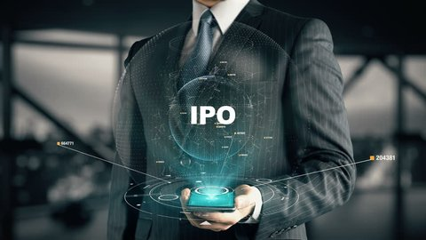 Businessman with IPO