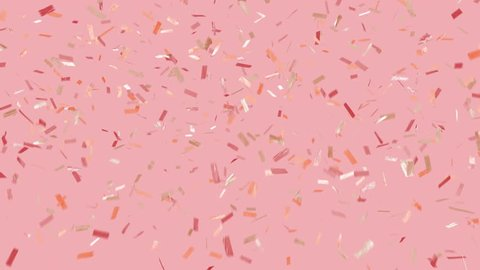 Party vibes! Trendy, glam, modern looking, and loopable. Multi-color ticker tape style confetti over background. See portfolio for similar and much more!