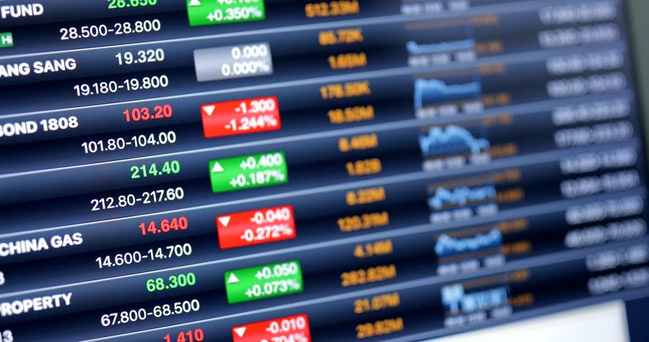 Stock market index on tablet computer | Shutterstock HD Video #30206806
