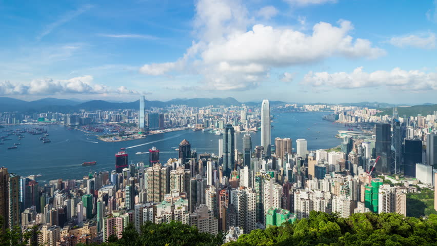 Timelapse of Hong Kong  cityscape | Shutterstock HD Video #30224782
