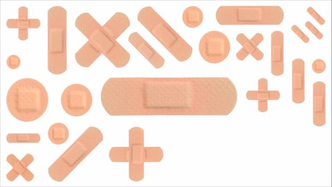 Various Strips of ADHESIVE BANDAGES PLASTER - Medical Equipment