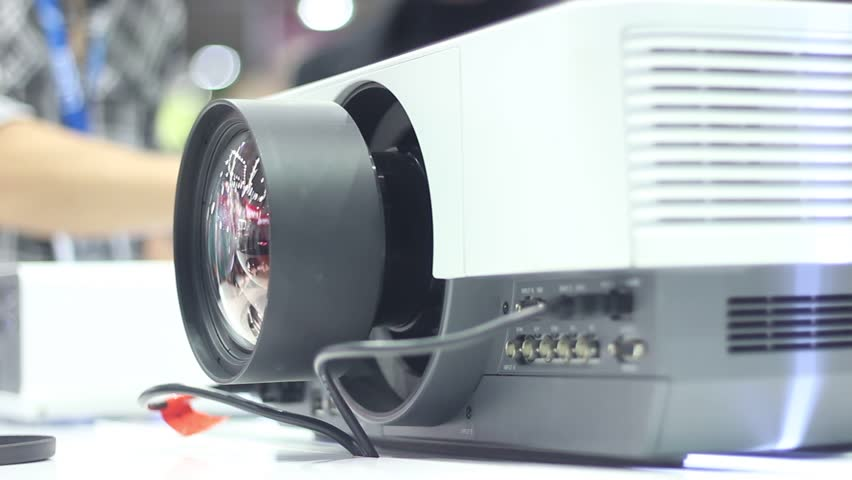 Modern projector at an exhibition of advanced technologies    HD stock  footage clip. Prepared Submissive And Dominance Toys On Iron Bed  Bondage And