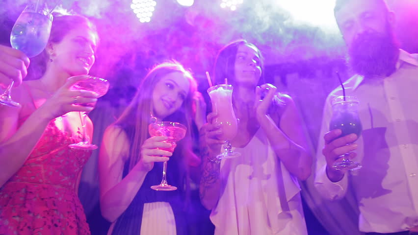 Friends in the club having fun and drinking cocktails | Shutterstock HD Video #30404938