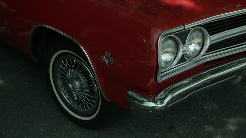 Exterior Lower From Left Corner of a Classic Car