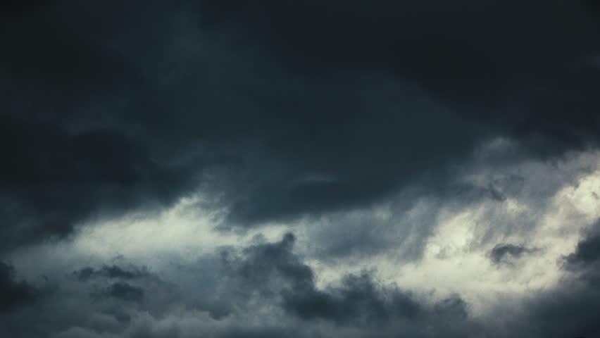 Over head Shot of rain cloud come ; weather change