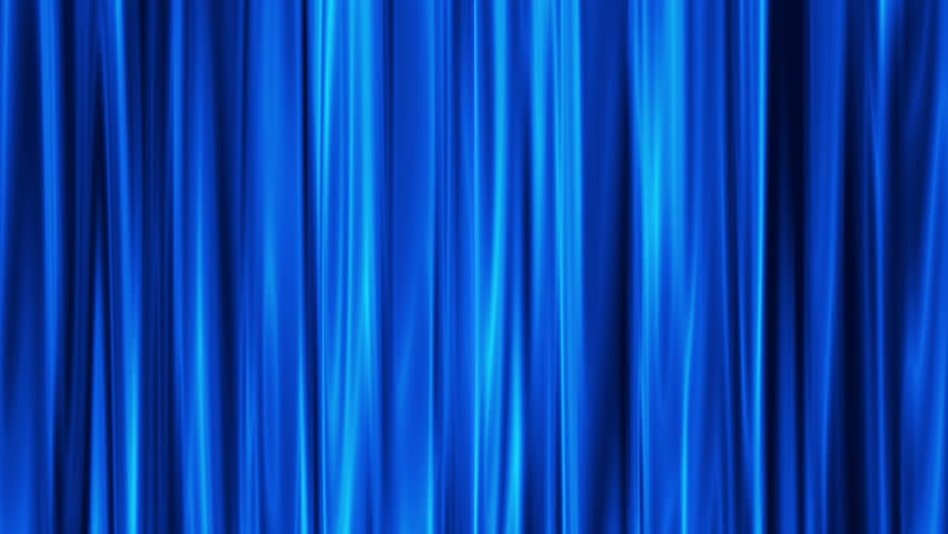 Blue Curtains Open White Background Stock Footage Video