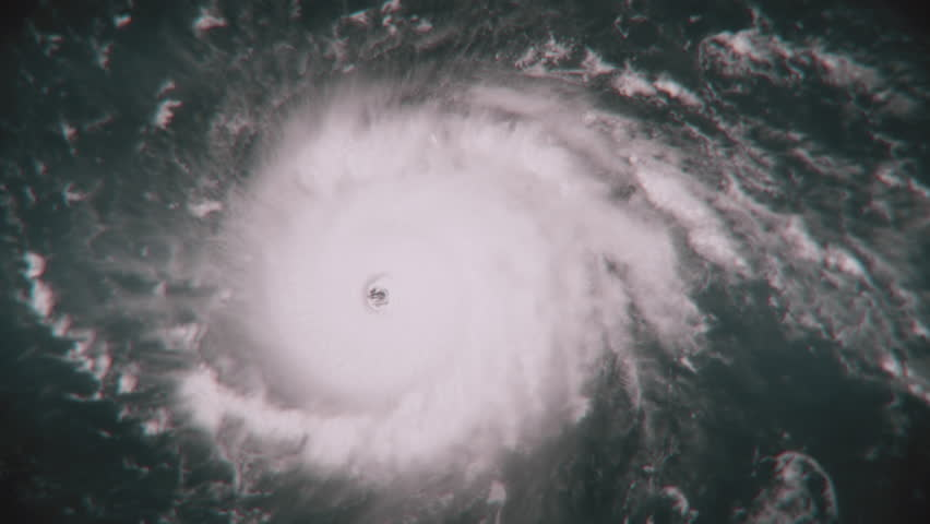 Satellite view of Hurricane Irma, now a record breaking category 5 storm churning in the Atlantic. 4K animation rendered at 16-bit color depth. (Elements furnished by NASA)