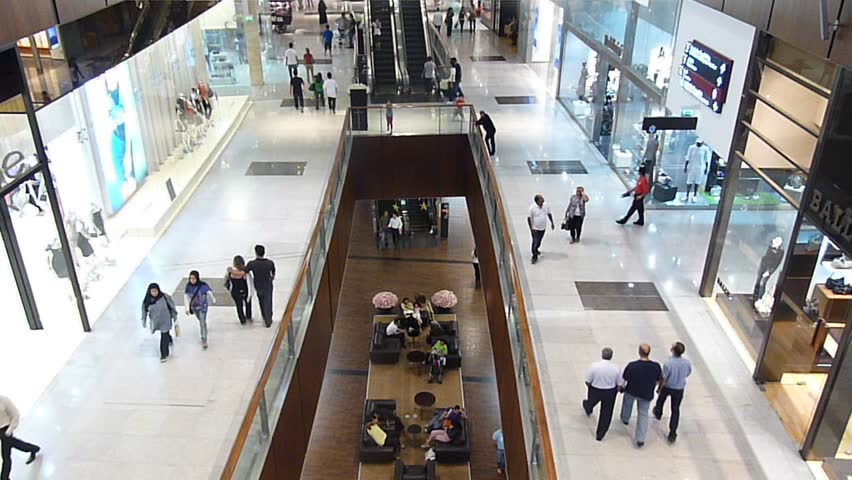 DUBAI, UAE - SEPTEMBER 06: Shoppers at Dubai Mall September 06, 2010 in Dubai, United Arab Emirates. Dubai Mall is one of the largest mall in the world. | Shutterstock HD Video #3047512