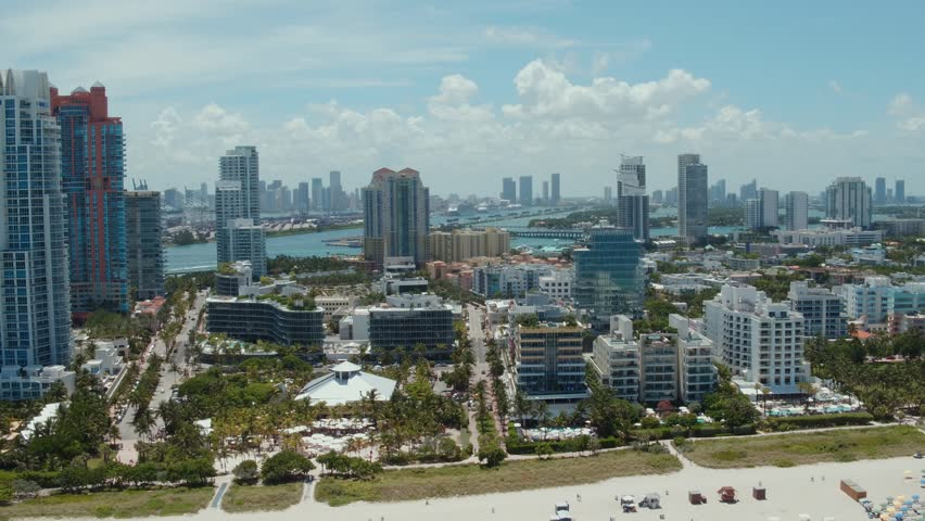 Aerial of South Beach, Miami Beach, FL  | Shutterstock HD Video #30496315