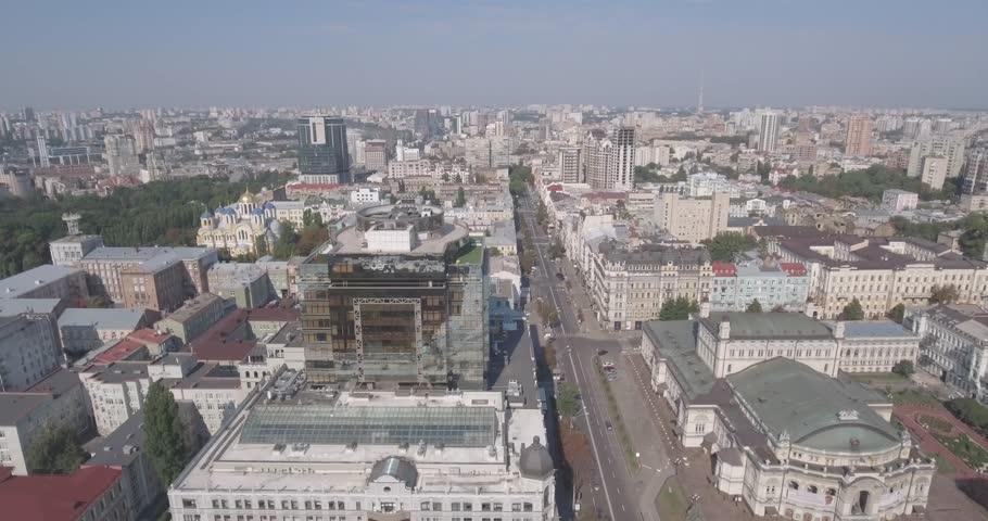Kiev Street Vladimirskaya Aerial  City Stock Footage Video (100%  Royalty-free) 30508432 | Shutterstock