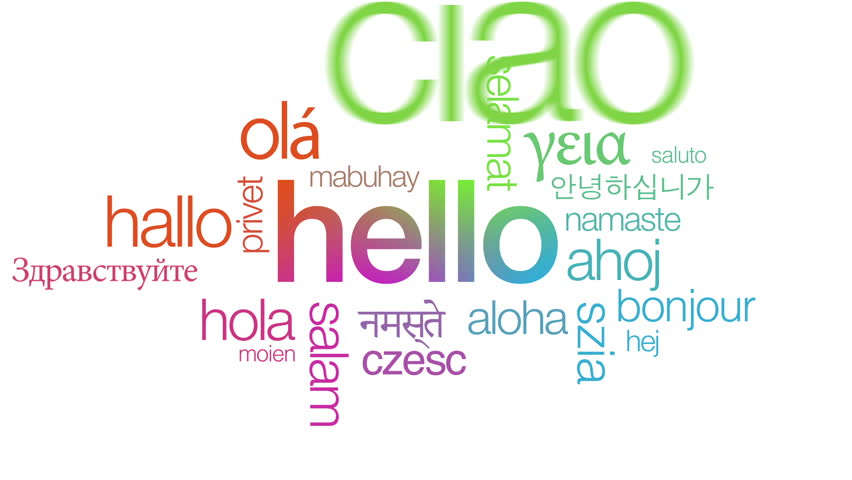 Hello In Different Languages Stock Footage Video 3052690 ...