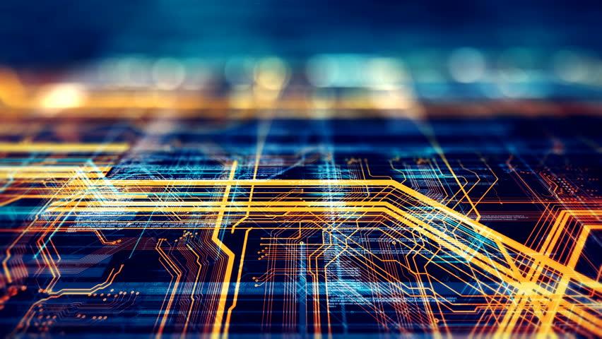 Circuit Board Futuristic Server Code Stock Footage Video