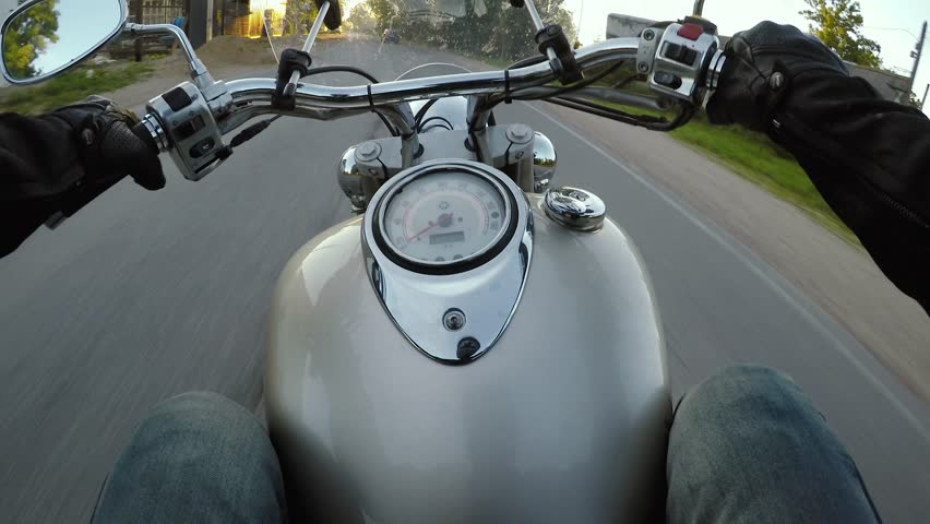 Riding a motorcycle. First-person view. Point of view. | Shutterstock HD Video #30601102
