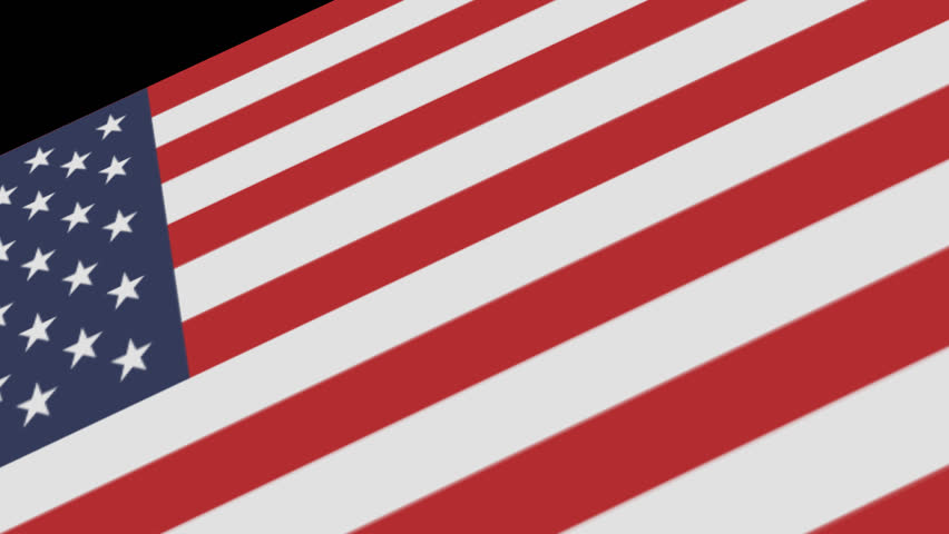 Animated 3D flag of the United States of America (USA)