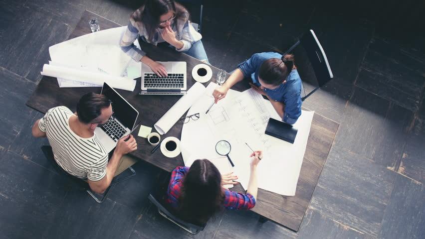 Working people in the loft | Shutterstock HD Video #30708952