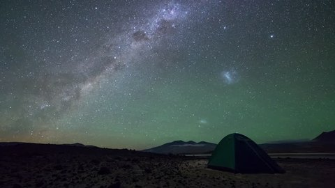 Tent, Milky Way and Magellanic Clouds