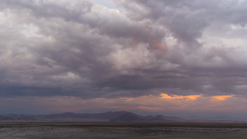 Thunderstorm Mojave Desert with Distant mountains 4K from 6K source | Shutterstock HD Video #30764242