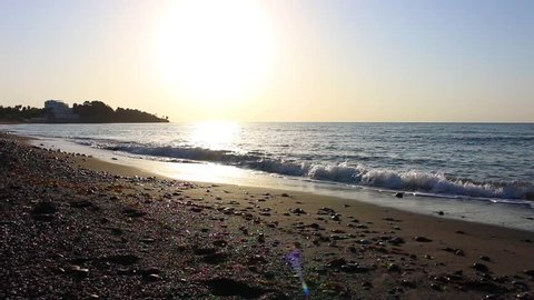 Beach. Summer landscape. Estepona, Costa del Sol, Andalusia, Spain.
