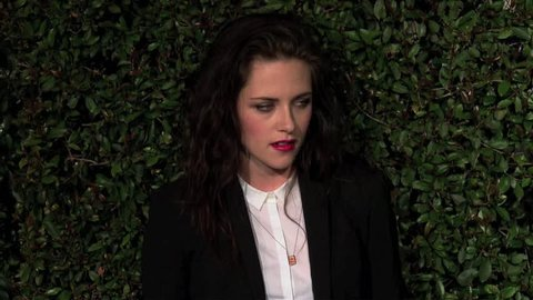 West Hollywood, CA - APRIL 13, 2012: Kristen Stewart, walks the red carpet at the My Valentine Premiere held at the Stella McCartney Store