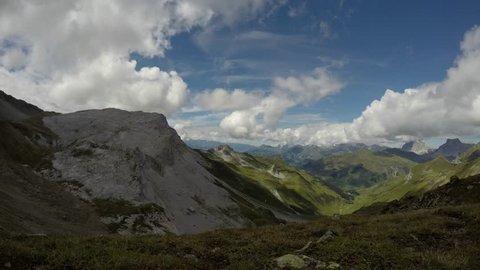Raetschenfluh in time lapse - austria