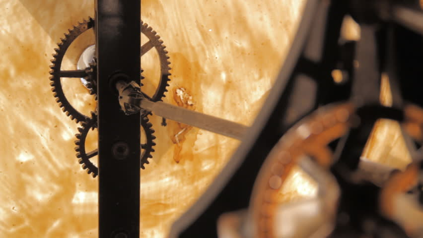 Kiev.mechanism of 1858, Ancient Tower Clock, Clock-Chime, the Movement of Clock Gears. Wagner. Paris. Twirled Gears in Oil. With an Inscription From the Manufacturer. | Shutterstock HD Video #30879682