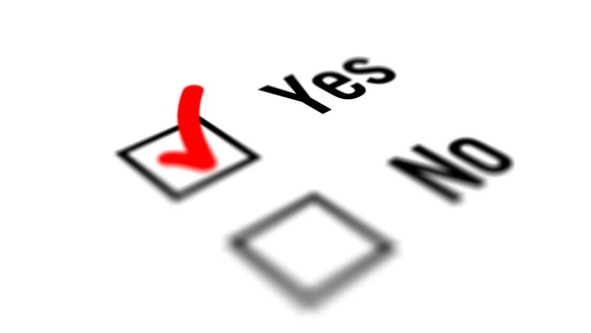Close up of Yes and No Checkbox Marking Survey. Checking Yes and No Option on White  Background. | Shutterstock HD Video #30900442