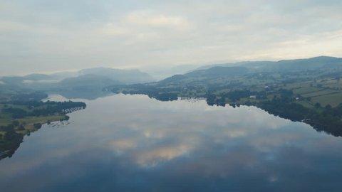 Soft morning light over Ullswater, Lake District.