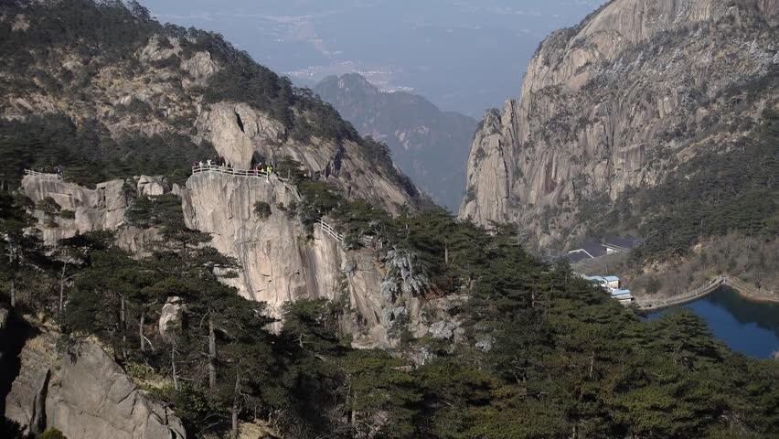 Mountain Huangshan scenery. Taken on the Mountain Huangshan, Anhui, China.