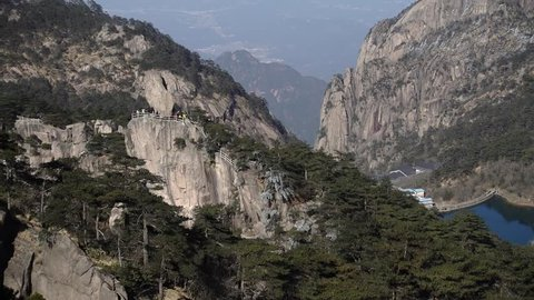 Mountain Huangshan scenery. Taken on the Mountain Huangshan, Anhui, China.