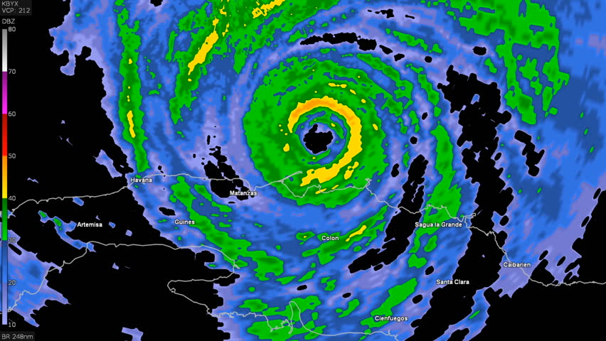 Florida United States September Hurricane Irma On Doppler - Doppler radar in the united states