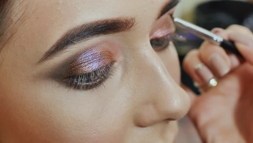 Makeup Professional Makeup Applied To Stock Footage Video 100