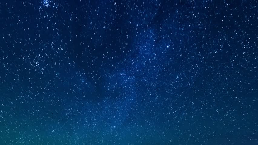 Starry sky, clear blue skies with clear weather. Star TIme Lapse, Milky Way Galaxy moving across the Night Sky, Milky Way Galaxy Time Lapse Mojave Desert. Starry night sky with meteor shower. Full HD.