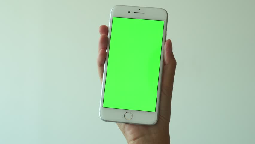 Bangkok, Thailand, SEP 22, 2017: close up young woman uses white iphone 7 plus on apple mobile phone white background Smartphone on green screen display with chroma key electronic device editorial 4K | Shutterstock HD Video #31000132