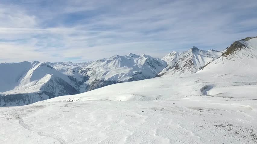 Amazing aerial shoot of Gudauri, Georgia. Winter sport. Slow motion. | Shutterstock HD Video #31029496
