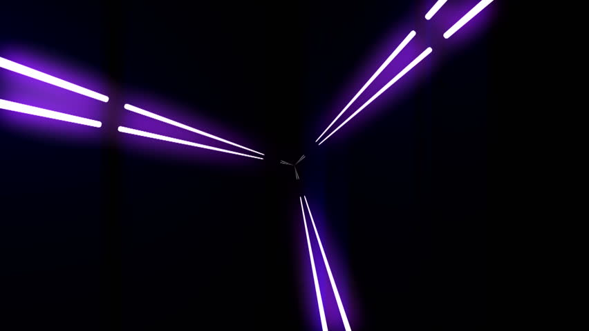Dance of the lines and lights Abstract background with animation of flight in abstract futuristic tunnel with neon light. Animation abstract seamless background looped animation, fluorescent led blue | Shutterstock HD Video #3106522