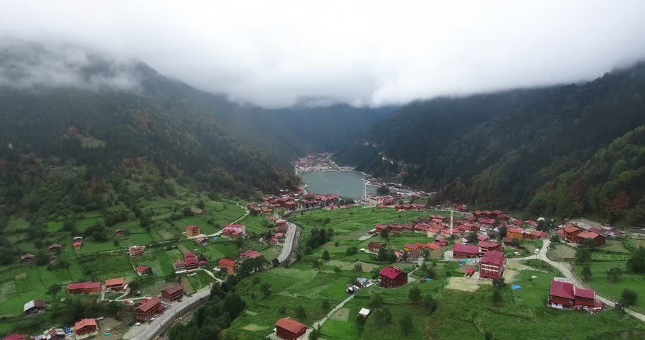 Uzungöl is a lake situated to the south of the city of Trabzon, in the Çaykara district of Trabzon Province, Turkey. | Shutterstock HD Video #31091542