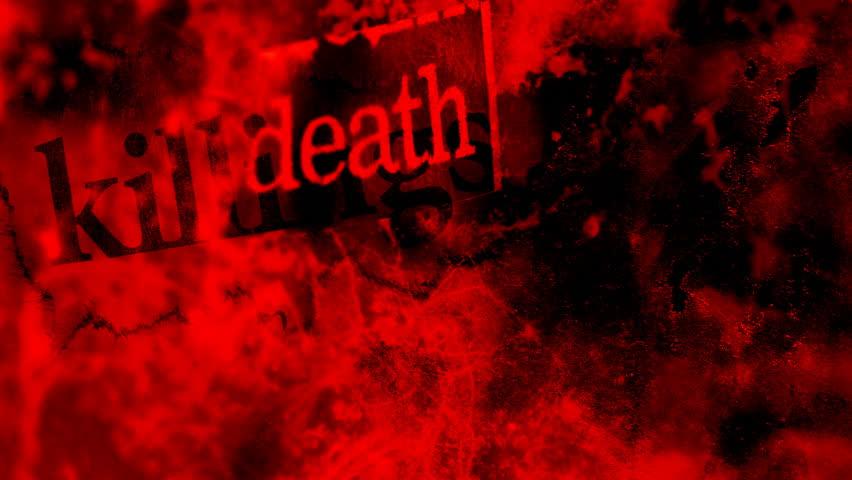 crime scene blood splatter looping background stock