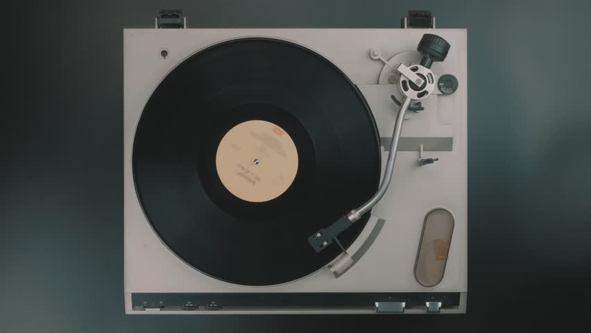 Cinemagraph Loop Vinyl Turntable Player View Top