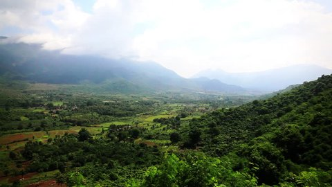 Pan shot of the Araku Valley, Visakhapatnam, Andhra Pradesh, India